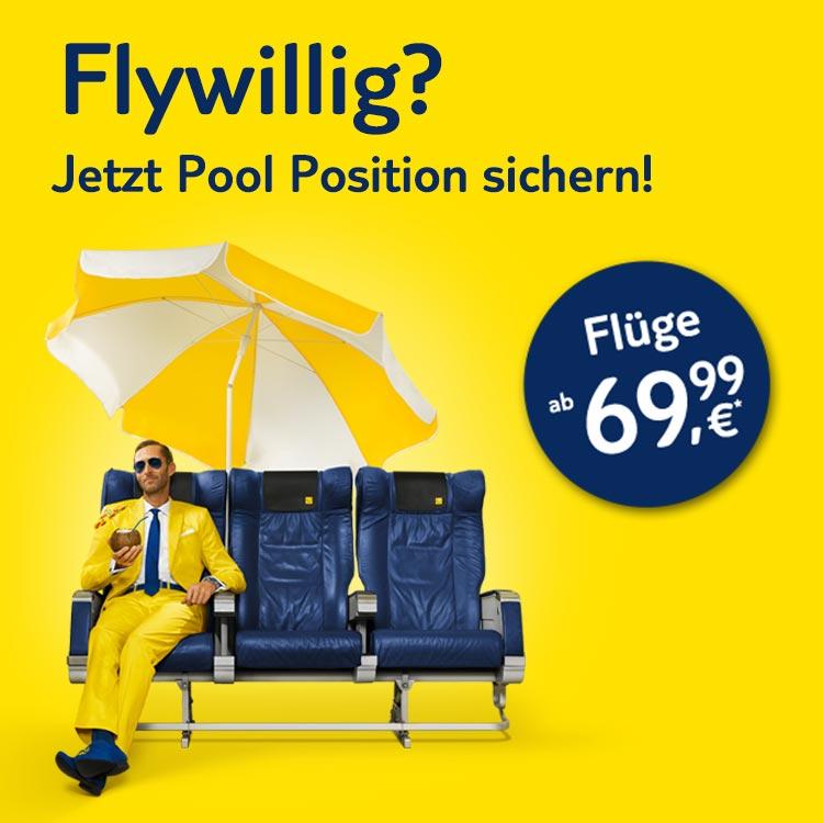 Flywillig? Sommerflüge ab 69,99 €*!