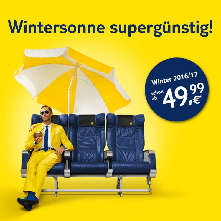 Wintersonne 2016/17 ab 49,99 €*!
